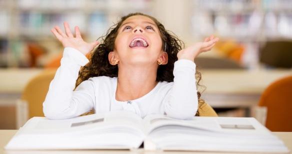 Excited schoolgirl