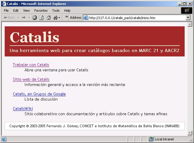 catalis-inicio