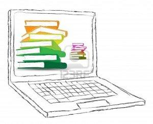 12403162-dibujo-ordenador-portatil-con-pantalla-en-blanco-y-los-libros
