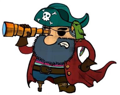 Los piratas del ebook son relativamente viejos y ricos - Pirata colorazione pirata stampabili ...