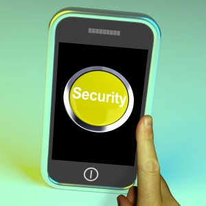 Security Button On Mobile Shows Encryption And Safety