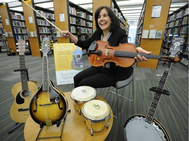 Library borrows a tune