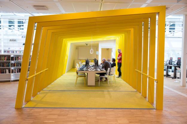 VIP-invigning av Kista bibliotek