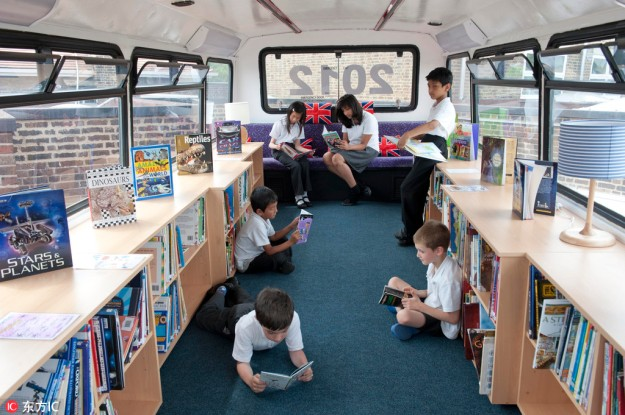 All Aboard The Library Bus