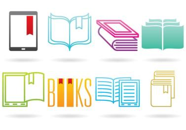 vector-books-and-e-reader-logos