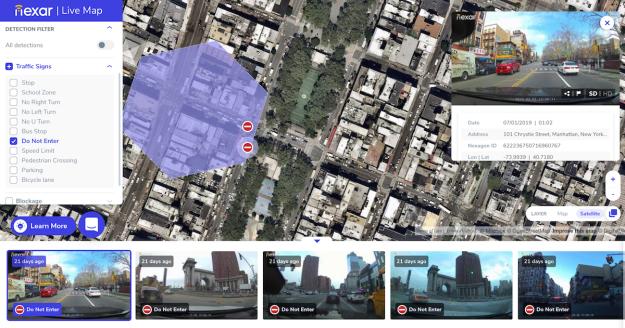 Resultado de imagen de Nexar Live Map