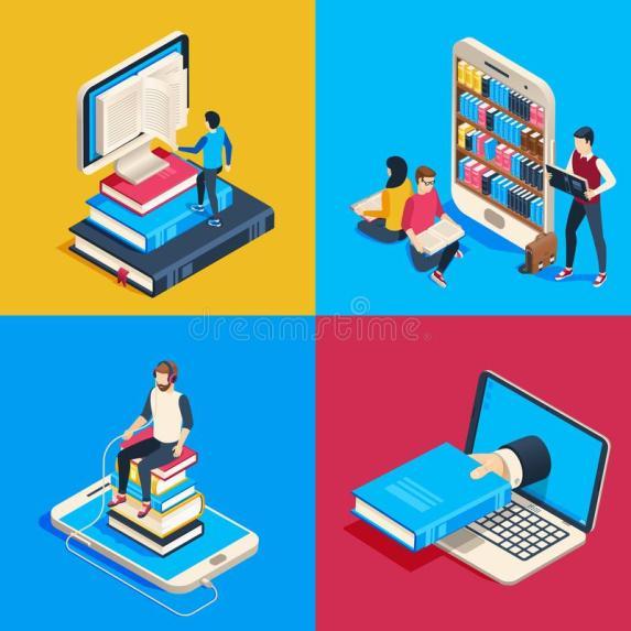 biblioteca-en-lc3adnea-isomc3a9trica-los-libros-de-lectura-estudiantes-el-smartphone-estudiando-libro-la-ciencia-y-lec3addo-lector-128747818