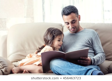 little-girl-father-enjoying-reading-260nw-456463723