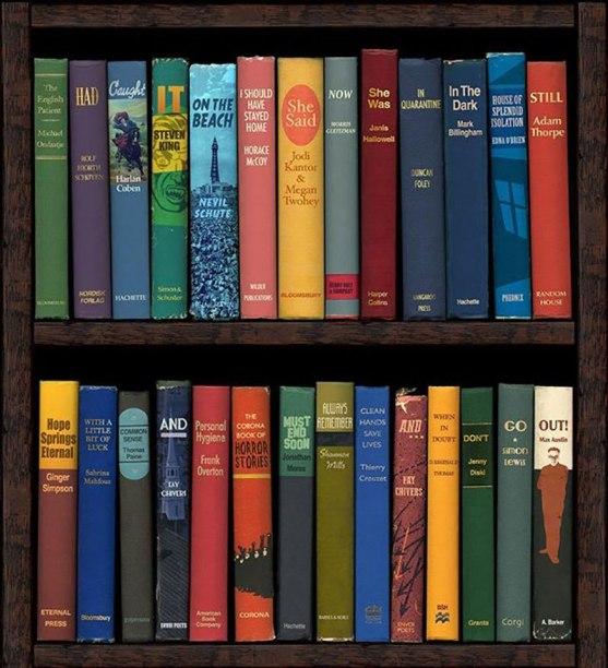 quarantine-isolation-social-distancing-bookshelf-art-by-phil-shaw-2